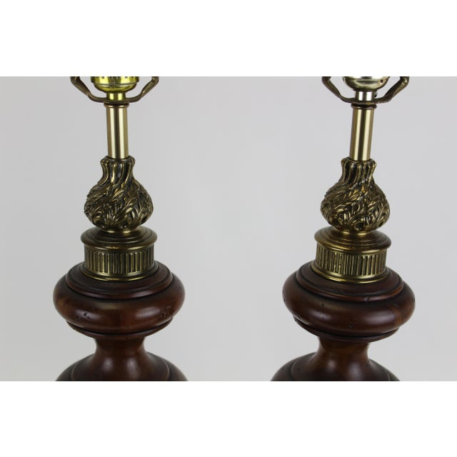 Rembrandt Lamp Company Mid-Century Rembrandt Table Lamps - A Pair For Sale - Image 4 of 7