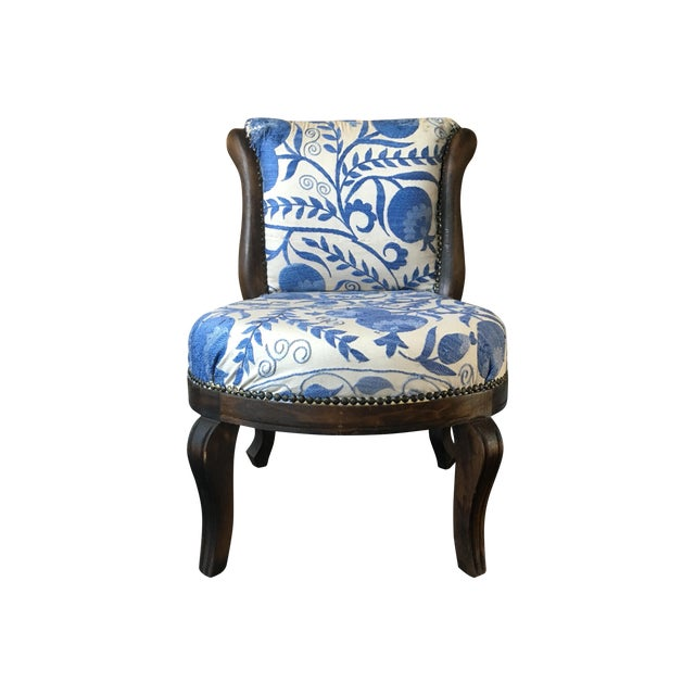 Vintage Slipper Chair With Suzani Upholstery - Image 1 of 7