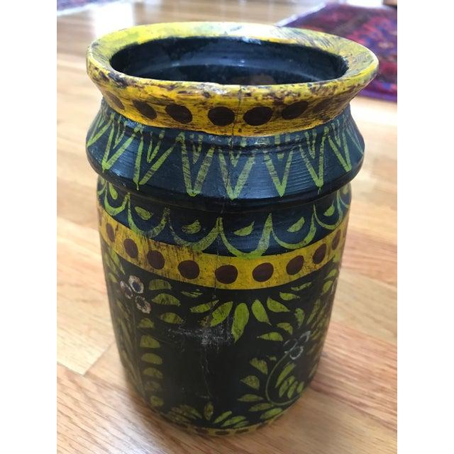 Wooden Folk Vase - Image 3 of 3