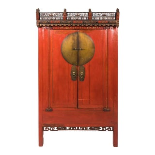 Painted Chinoiserie Armoire Ca. 1880 For Sale