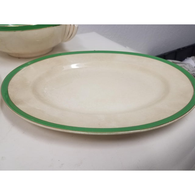 Antique Wedgwood Art Deco Serving Platters and Bowls - Found in Devon For Sale - Image 10 of 12