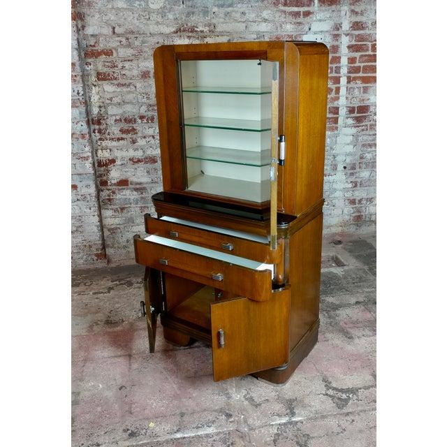 Art Deco Original 1930s Walnut Dental Cabinet For Sale - Image 4 of 10