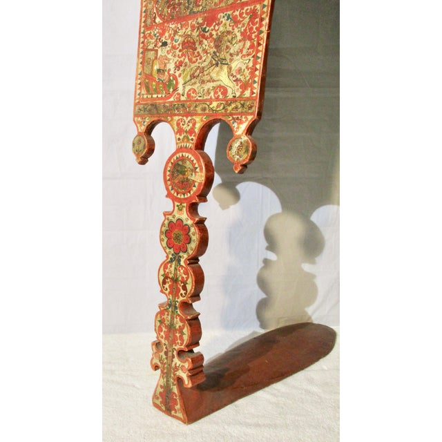 This is a beautiful example of a Russian/Ukranian Distaff, a unique item used by women to hold fibre (wool, flax) in a...