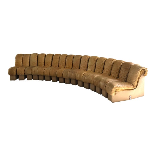 "Monumental De Sede Ds600 ""Non-Stop"" Snake Sofa For Sale"