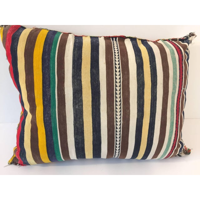 Mid 20th Century Moroccan Berber Pillow With Tribal African Designs For Sale - Image 5 of 8