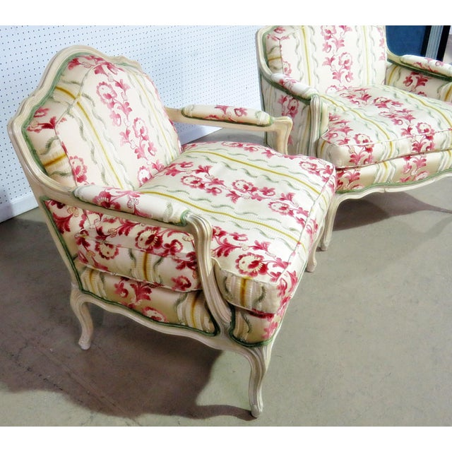 Paint Companion Pair of Louis XV Style Chairs For Sale - Image 7 of 9