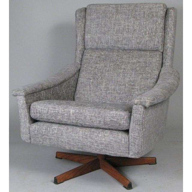 Mid-Century Modern 1950s Danish High Back Swivel Lounge Chairs - a Pair For Sale - Image 3 of 13