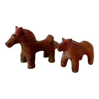 Rustic Near East Animal Figures, Set of 2 For Sale