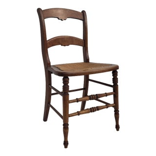 Antique Farmhouse Chair With Cane Seat For Sale