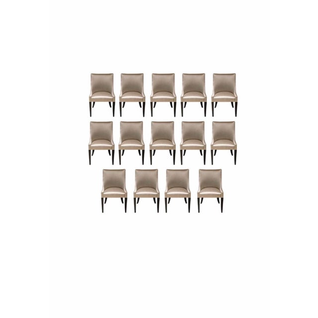 Modern Tan Custom Dining Chairs- Set of 14 For Sale - Image 4 of 8