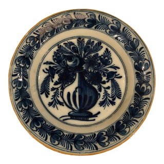 18th Century Vintage Delft Plate For Sale