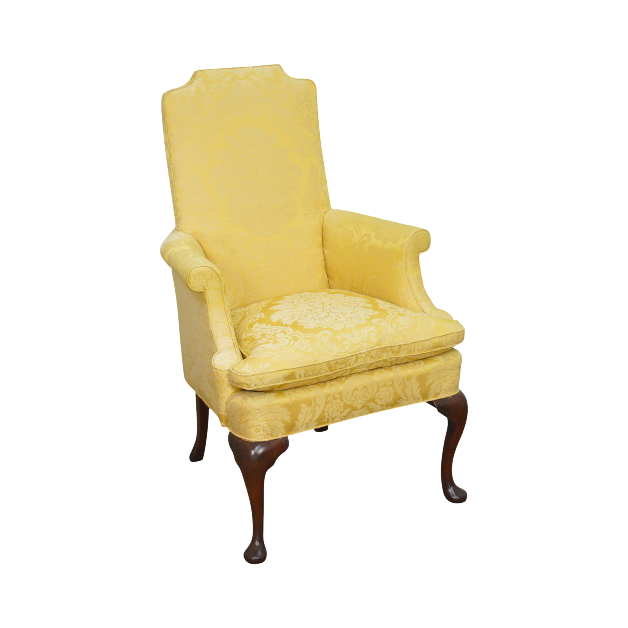 Southwood Mahogany Frame Queen Anne Style Wing Chair