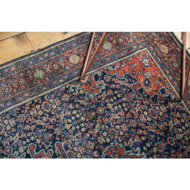 "Blue Vintage Farahan Sarouk Rug - 4'3"" X 6'6"" For Sale - Image 8 of 11"