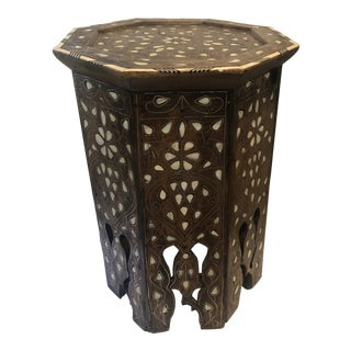 Moroccan Middle-Eastern Style Inlaid Side Table For Sale