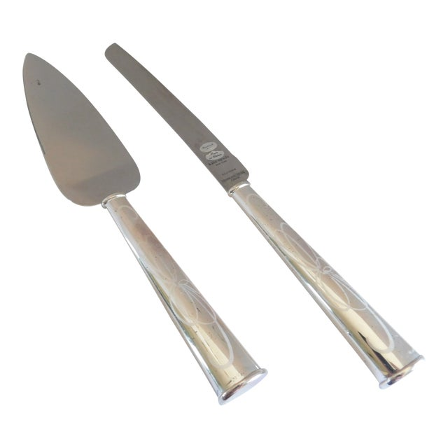 Kate Spade for Lenox Belle Boulevard Cake Cutter and Server - a Pair For Sale