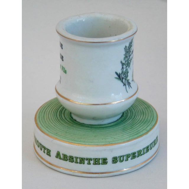 French Early 1900s French Porcelain Match Striker & Holder For Sale - Image 3 of 11