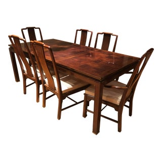 1970s Asian-Inspired Dining Set For Sale