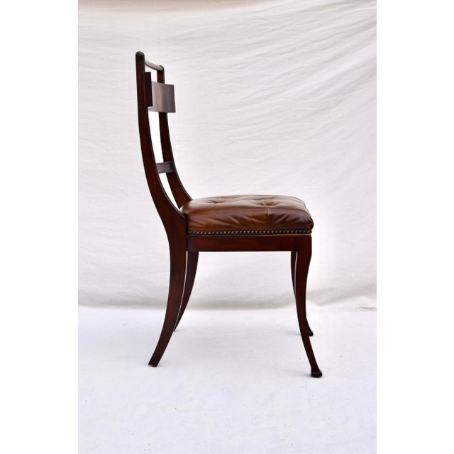 Henredon Hanover Tufted Leather Dining Chairs, Pair For Sale In Philadelphia - Image 6 of 13