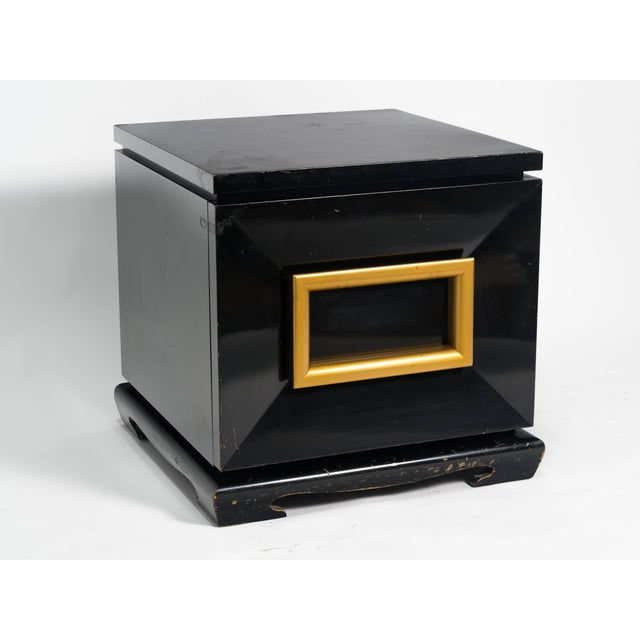 James Mont Pair of James Mont Style Chunky End Tables For Sale - Image 4 of 7