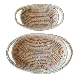 African Coil Basket Bowls, 2 Piece For Sale