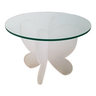 Vintage Mid-Century Modern Sculptural Lucite Dining Table For Sale