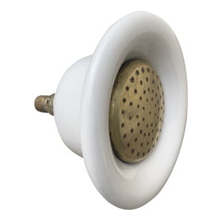 Vintage Large Porcelain and Brass Shower Head Nozzle. For Sale