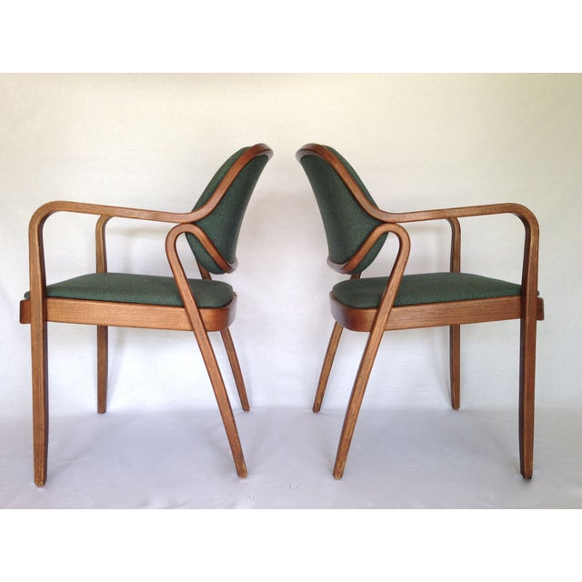 Knoll Bentwood Armchairs by Don Petitt- a Pair - Image 2 of 6