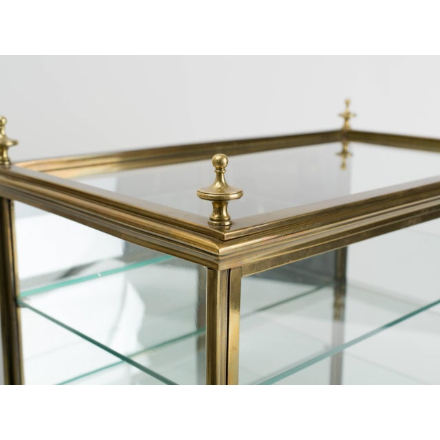 Italian Brass and Glass Display Cabinet For Sale - Image 4 of 11