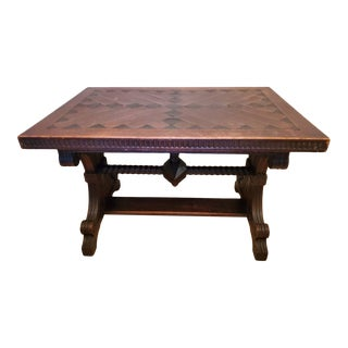 19th Century English Victorian Medieval Table For Sale