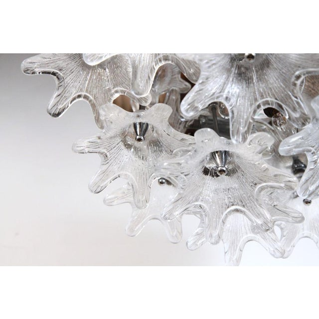 American Glass Bloom Cluster Plafonnier For Sale - Image 4 of 5
