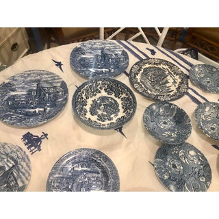 Vintage Blue and White Transferware Mismatched Dishes - Set of 19 Preview