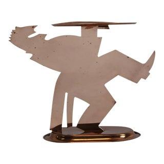 """Lurelle Guild for Chase Art Deco """"Pretzelman"""" Waiter Tray"""