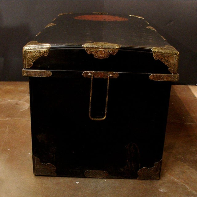 Japanese Imperial Black Lacquer Dowry Trunk (Nagamochi) - Image 3 of 9