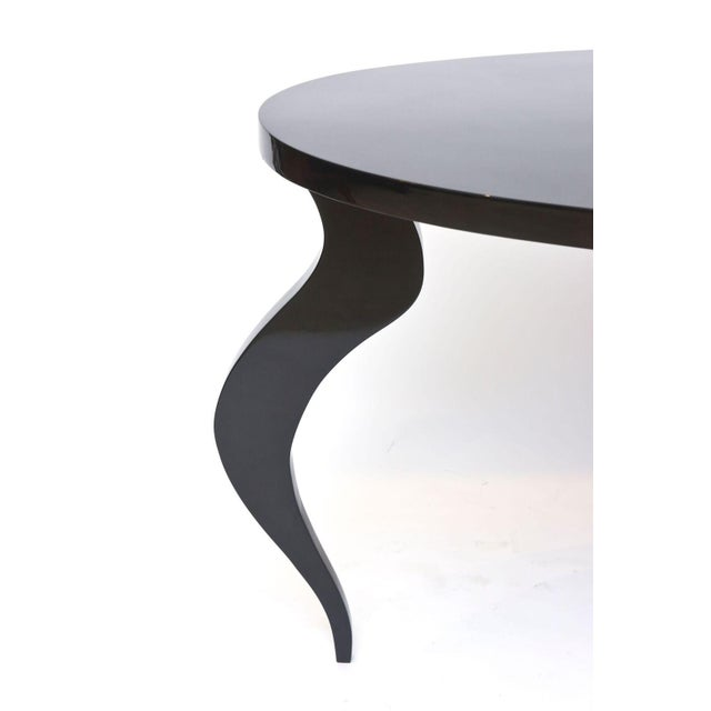 Italian Italian Modern Black Lacquer Center/Dining Table For Sale - Image 3 of 9