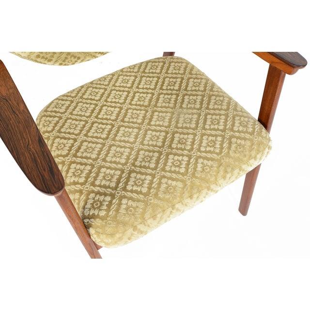 Danish Modern Rosewood & Mohair Armchair - Image 8 of 10