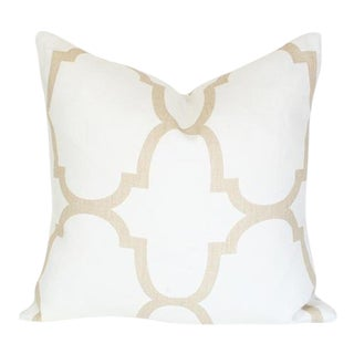 Kravet Riad Ivory Pillow Cover For Sale