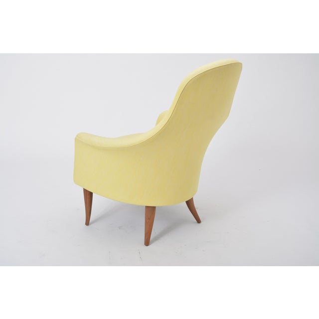 Walnut Large Adam' Reupholstered Lounge Chair With Ottoman by Kerstin Hörlin-Holmquist For Sale - Image 7 of 12