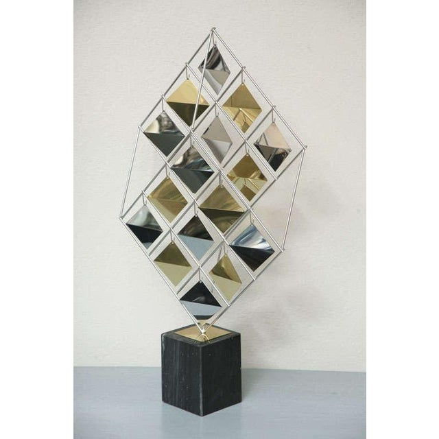 Brass and Chrome Sculpture by Curtis Jere For Sale - Image 10 of 11