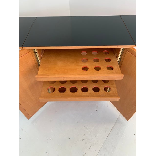 Wood 1960s Vintage Mid Century Bar Cart For Sale - Image 7 of 13
