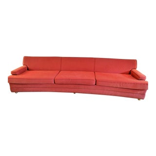 Vintage Mid-Century Modern Red Upholstered Sofa