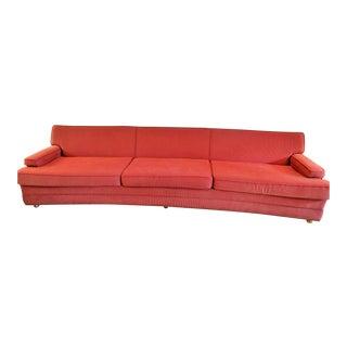 vintage mid century modern red upholstered sofa - Vintage Sofa