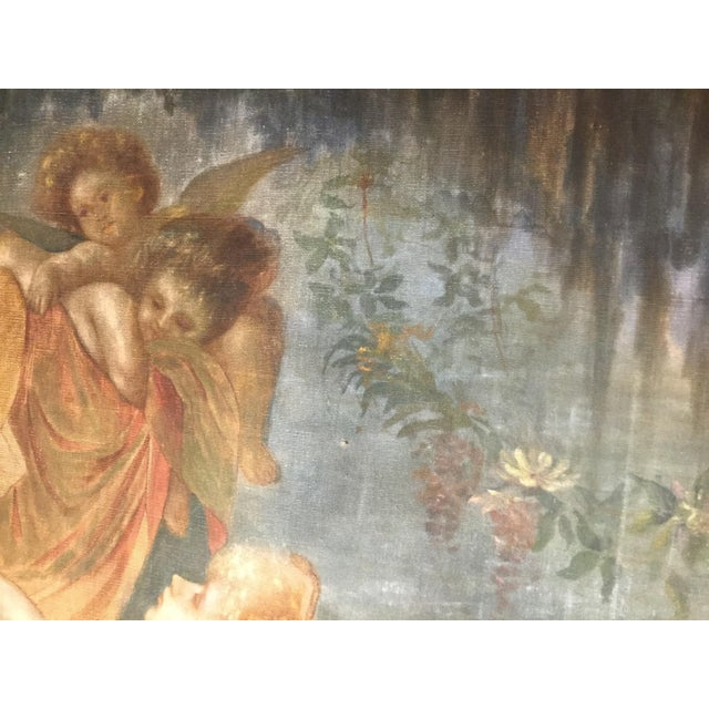 19th Century French Aubusson Tapestry Cartoon For Sale - Image 10 of 13