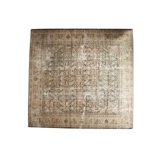 "Vintage Distressed Mahal Square Carpet - 10'5"" X 10'11"""