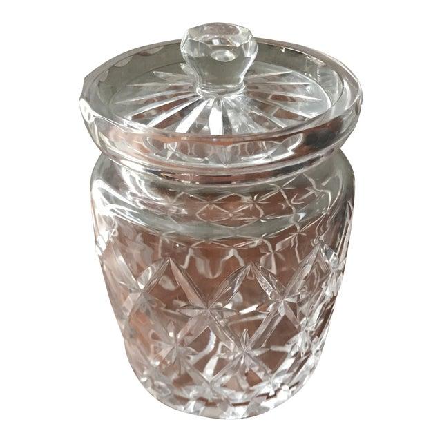Vintage Tiffany & Co Crystal Lidded Biscuit Jar For Sale