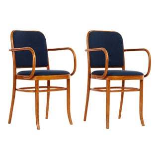 Set of Five Bentwood Dining Chairs Josef Hoffmann Style For Sale