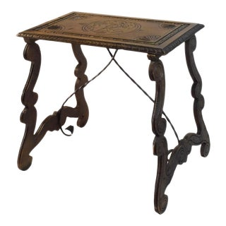 19th Century Spanish Baroque Side Table For Sale