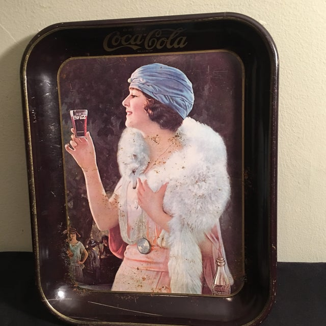 Americana Vintage 1920's Coca-Cola Tray For Sale - Image 3 of 5
