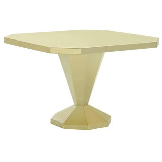 Caracole Modern I'm Riveted Brass Finished Metal Dining Table/Center Table For Sale