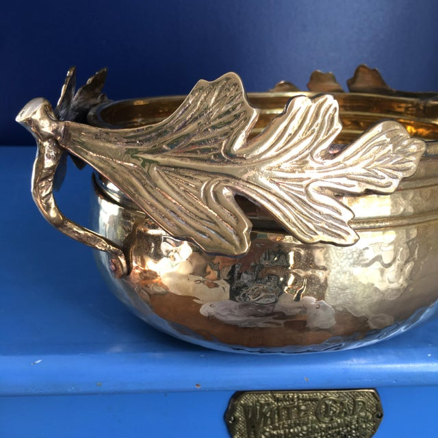 English 1990s Solid Brass Planter/Bowl For Sale - Image 3 of 7