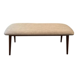 Mid Century Style Upholstered Bench For Sale